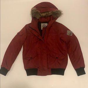 Jackets & Blazers - Beaver Canoe maroon bomber jacket medium